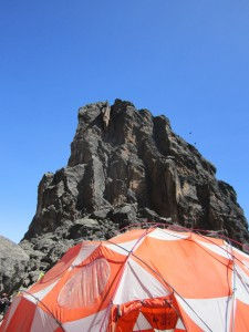 Lava tower, dining tent.